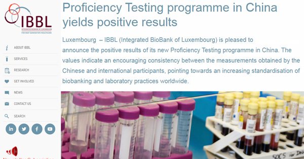 IBBL Concludes Pilot Biobank Proficiency Testing Programme in China