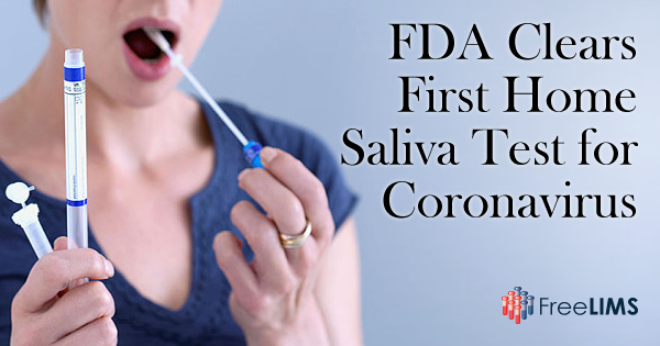 FDA Clears First Home Saliva Test for Coronavirus